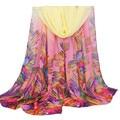 Nova marca scarf Wraps para as mulheres Design de Moda 4 Cores flor grande infinito Longo cachecóis e Xales 2016 Presente 1 pcs