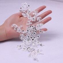 High Quality Bridal Lace Applique Fabric lace applique pacth trim10 pcs/lot (5 pair/lot )TT41