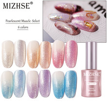 MIZHSE 18ML UV Kleur Parel Glitter Gel Nagellak Losweken Nagellak Langdurige DIY Gel Hybrid Vernis matte Top Base(China)