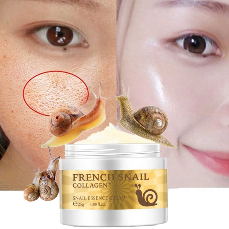 Face Primer Base Makeup Snail Essence Cream Hyaluronic Acid Collagen Whitening Pores Minimizer Skin Soft Smooth Repair