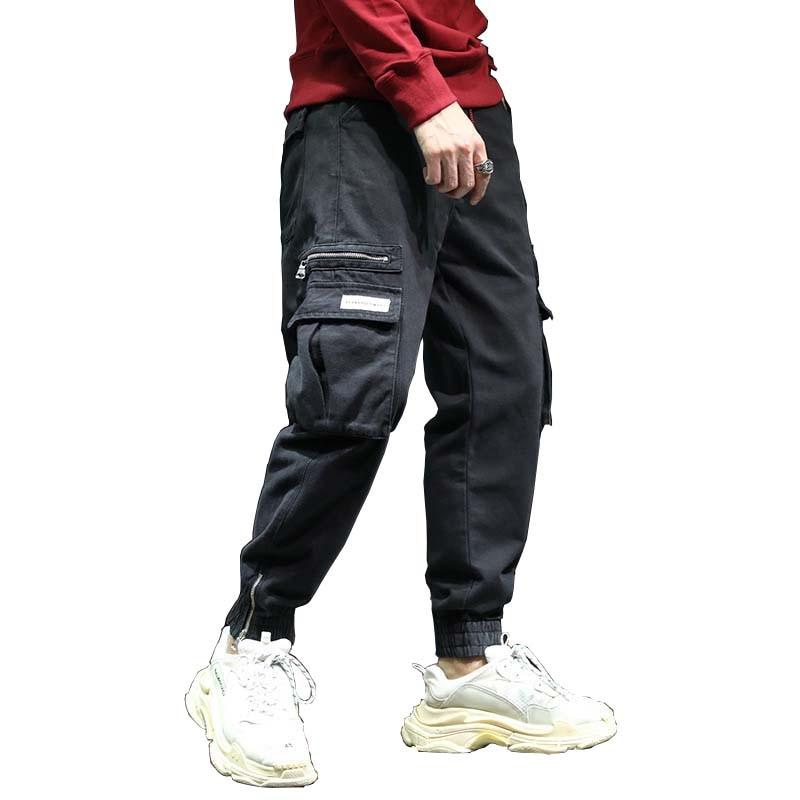 100% QualitäT Neue Mode Hip Hop Harem Jogger Hosen Streetwear Männer Cargo Hosen Mit Viele Tasche Baumwolle Lose Baggy Hosen Mann Kleidung