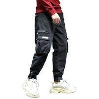 New Fashion Hip Hop Harem Joggers Pants Streetwear Men Cargo Pants with Many Pocket Cotton Loose Baggy Trousers Man Clothes