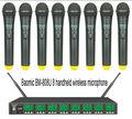 Baomic БМ-808U профессиональная UHF/PLL Восемь каналов беспроводной микрофон системы, 8 канала многоканального Беспроводная система