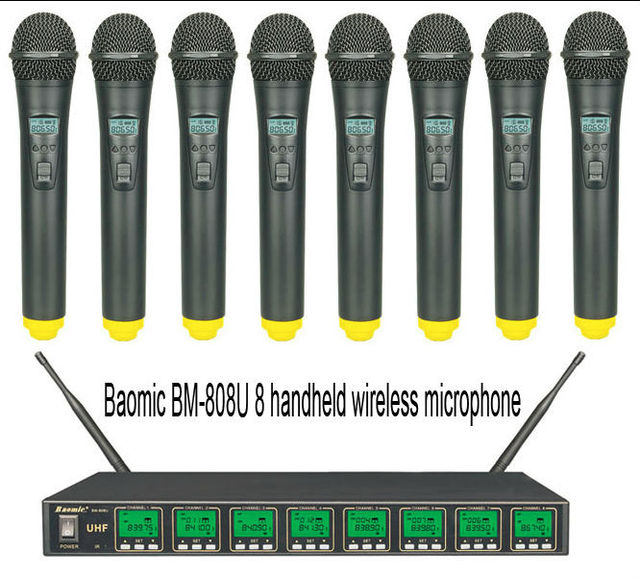 Baomic BM 808U Professional UHF/PLL Eight Channels