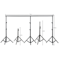 Background Stand Support System 3mx7m/10ftx23ft Photo Studio Photography Studio Heavy Duty Green Screen Backdrop Background Kit