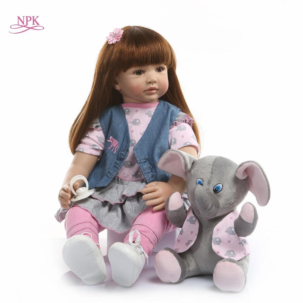 NPK 60 cm silicona Reborn Baby Doll juguetes para niñas exquisito vinilo princesa niño vivo Bebe bebés moda cumpleaños infantil regalo-in Muñecas from Juguetes y pasatiempos    1