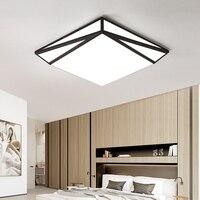 Forma geométrica modernas luzes de teto luminárias acrílico lâmpada do teto ferro lamparas techo branco preto quarto plafonnier|Luzes de teto| |  -