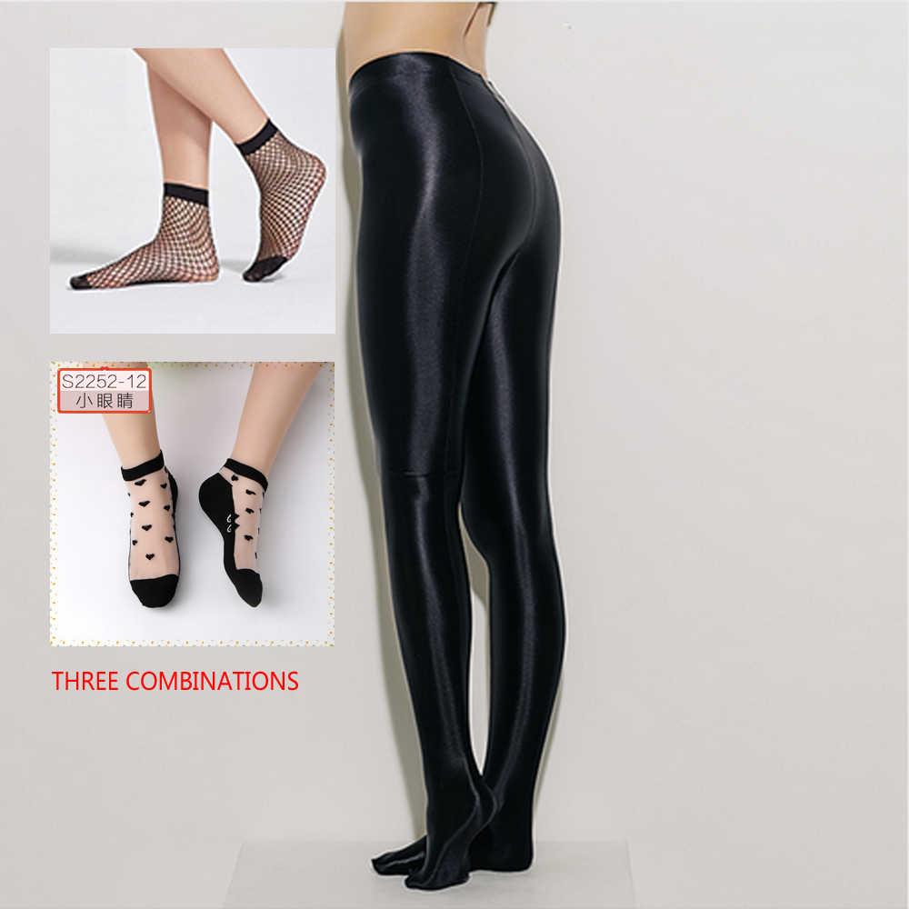 18c025c81 ... NEST Women s black sexy pants High waist design satin material  Tightfashioned ladies pantyhose Fashion sexy lady ...