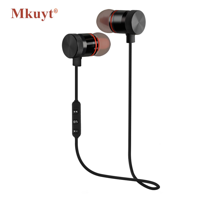 MKUYT Bluetooth Earphone Wireless Sports Running Stereo Headset Earbuds with Mic Magnetic Headphone for Xiaomi Iphone Android