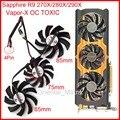 3pcs/Lot POWER LOGIC PLD09210D12HH/PLD08010S12HH DC12V 4Pin For Sapphire R9 270X/280X/290X Vapor-X OC TOXIC Graphics Card Fan