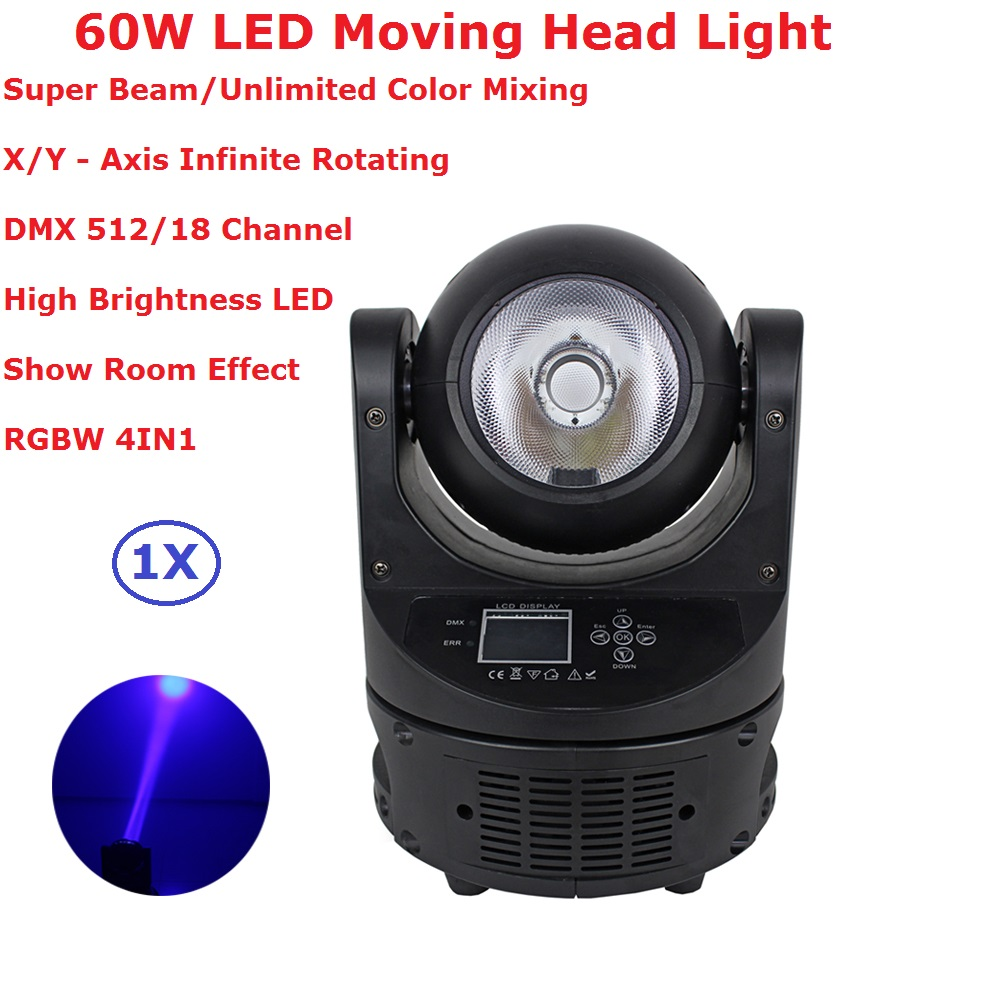 1XLot Ayrton MagicDot R 60W Stage Led Moving Head Light RGBW 4IN1 Beam Lights 3 5