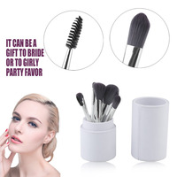 8pcs Bamboo Charcoal Fiber Makeup Brushes Cosmetics Brush Set Foundation Powder Eyeliner Lip Brush Beauty Tool