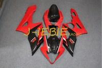 Red black Injection Fairing Body Work Frame Kit for SUZUKI GSXR 1000 GSXR1000 K5 2005 2006