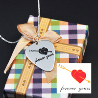 Sterling Silver Guitar Pick Necklace Engrave Your Design Custom Hand Written Necklace Personalized Heart Stamp Pendent