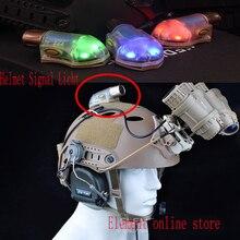 Элемент Шлем сигнальный светильник светодиодный фонарь Тактический шлем выживания лампы с волшебной лентой(EX262