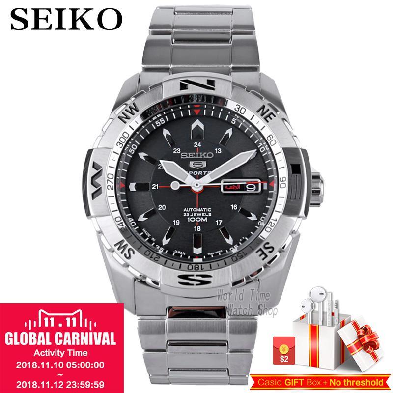 Seiko 5 Sports 24 Jewels Автоматические мужские часы Сделано в Японии SRP685J1 SRP687J1 SRP689J1 SNZJ05J1 SRPB86K1 SRPB85K1 SRPB81K1