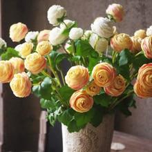 INDIGO- Wedding Flower (1stem 3 flowers) 42cm Silk Rose Peony Spray Tea Rose Silk Flower Floral Even Party Flower Free Shipping