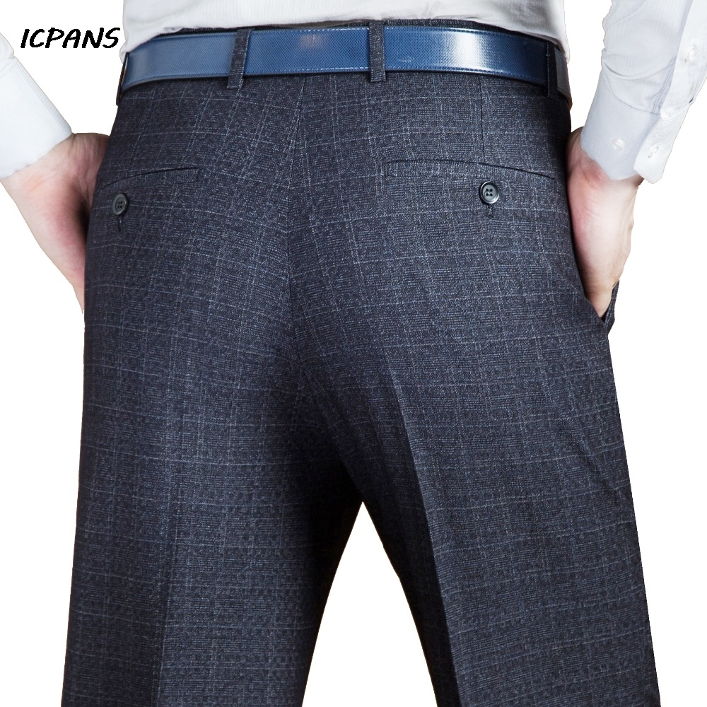 ICPANS Suit Trousers Formal Men's Clothing Suits & Blazer Suit Pants Man Formal Autumn Winter Dress Pants Wool Blend Big Size 44