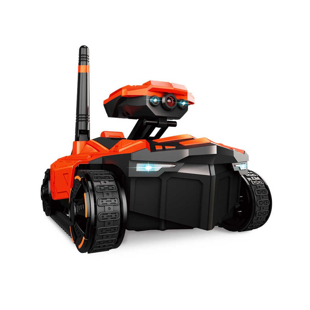 Монитор с дистанционным управлением умный Танк робот HD Wifi FPV 0.3MP Voiture Telecommandee камера RC телефон приложение управление автомобиль управление led дети