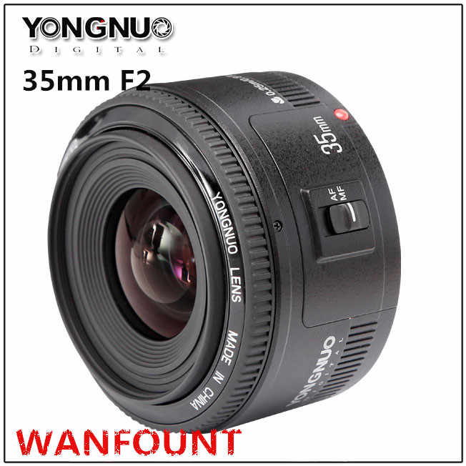 YONGNUO YN 35mm F2 Camera Lens for Nikon Canon EOS YN35MM