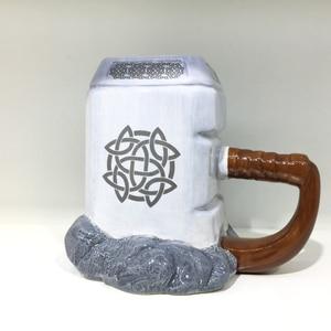 Image 5 - RUIDA Marvel thor coffee mugs ceramic hammer shaped cups and mugs large capacity mark creative drinkware ST211