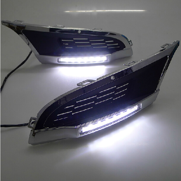 High quality and Waterproof LED Car DRL Daytime running lights fog light for Volkswagen VW Polo Mk5 Vento 2010 2011 2012 2013 for vw volkswagen polo mk5 6r hatchback 2010 2015 car rear lights covers led drl turn signals brake reverse tail decoration