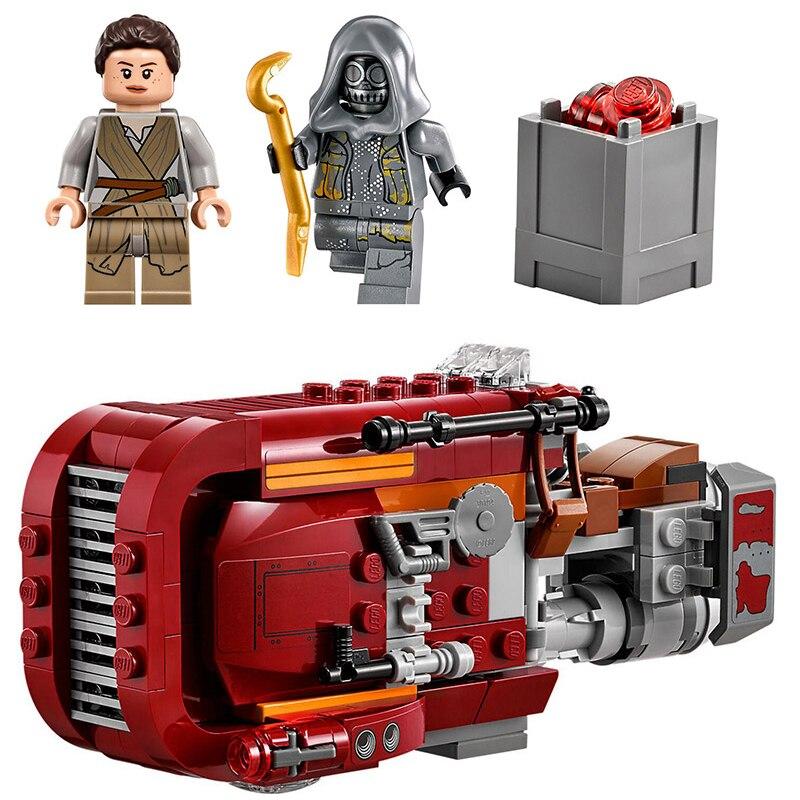 Lepin 05001 206 unids Star Wars la fuerza despierta rey \'s Chariot speeder lepin building block compatible legoinglys 75099 juguete ladrillo