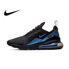 pretty nice 8f0cb 82b16 Oryginalny prawdziwe Nike Air Max 270 męskie buty do biegania oddychające  amortyzujące sportowe trampki 2019 New