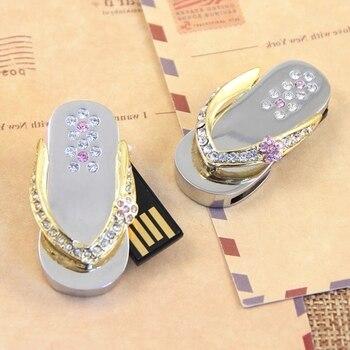 2.0 Jewelry Usb 128GB 512GB Pen Drive 1TB Crystal 64gb 8gb 16gb 32gb Usb Flash Drive 2TB Memory Stick Creativo Pendrive Shoes