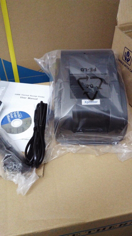 Высокое качество сканер штрих кода и 58 мм Принтер USB Мини термопринтер портативный лазерный принтер - 3