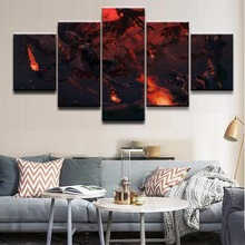 Modern Painting Modular Pictures Canvas Art Wall Decor For Living Room Or Bedroom 5 Panel Demon Hunter Diablo III Game Poster