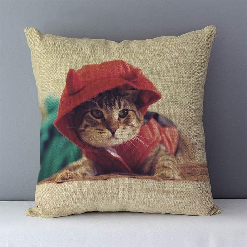 HTB1ViqjXjzuK1RjSspeq6ziHVXa9 Selected Couch cushion Cartoon cat printed quality cotton linen home decorative pillows kids bedroom Decor pillowcase wholesale