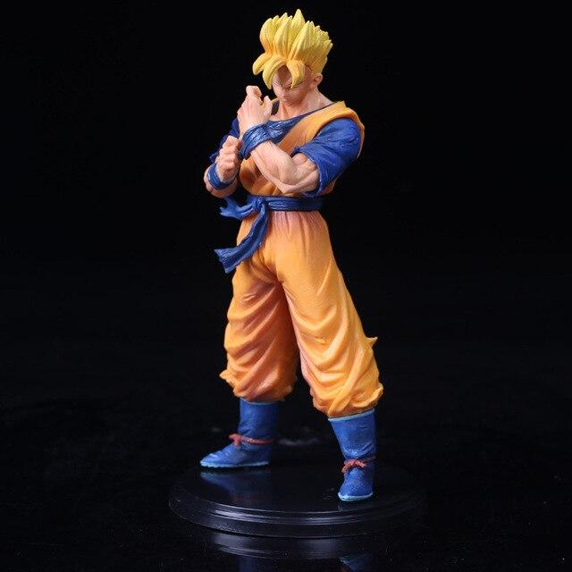 FoPcc 21 cm Dragon Ball Z Son Goku Encaixotado Brinquedo Modelo Action Figure Toy Modelo PVC Para O Quarto Escritório Em Carro presente