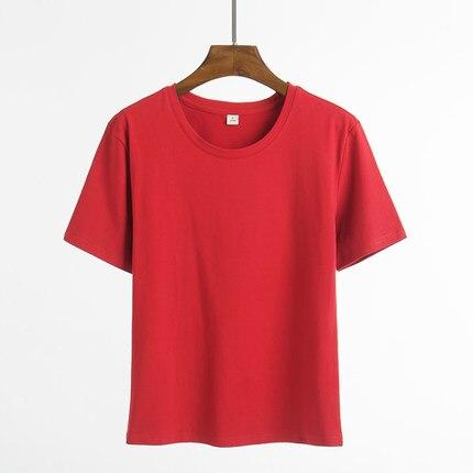 Camisa de manga corta los estudiantes suelta bodysuit camiseta ocasional del algodón del verano