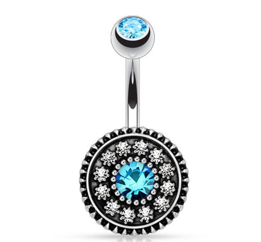 Us 1 29 Kylie Jenner Vintage Flower Belly Button Rings Body Jewelry Navel Piercing Ombligo Sexy Pircing Nombril Nipple Septum Ring In Body Jewelry