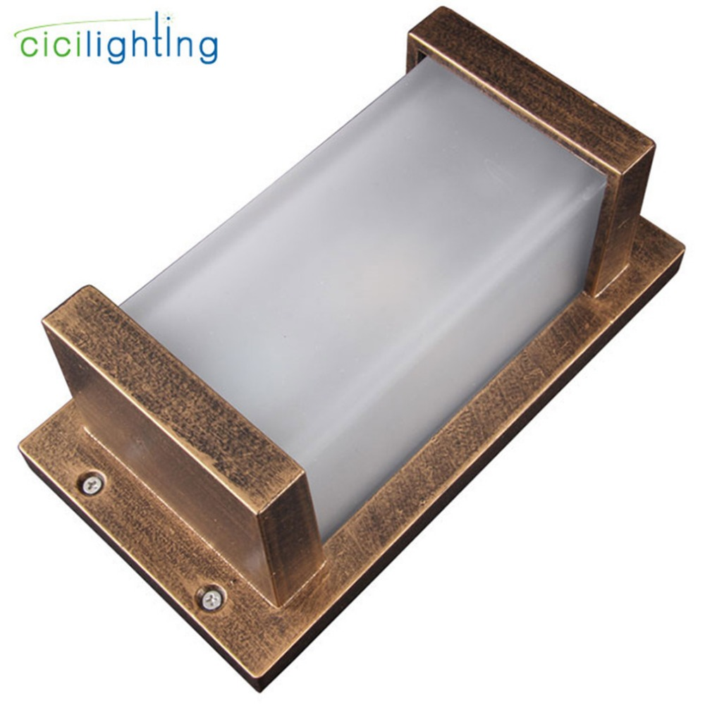 Europe style vintage E27 outdoor wall light Retro white glass shade outdoor porch lights antique kitchen