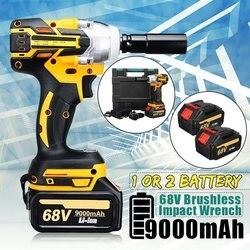 68V 9000mAh 520N. m Беспроводной литий-ионный аккумулятор электрический ударный ключ беспроводной бесщеточный с перезаряжаемой батареей AC 100-240V