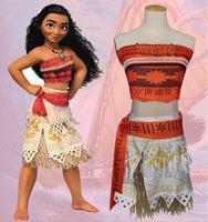 Women Kids Movie Moana Princess Dress Cosplay Costume Princess Vaiana Costume