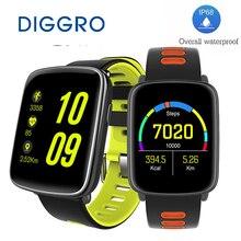 DIGGRO GV68 MTK2502 Reloj Inteligente Bluetooth4.0 IP68 A Prueba de agua Reloj Del Ritmo Cardíaco del Deporte de Agua Mensaje Recordatorio de Llamada Para IOS/Android