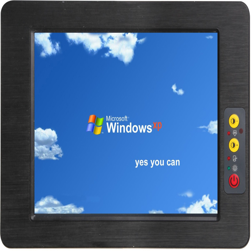 Embedded Fanless 17 Inch Touch Screen Industrial Panel Pc Mini All In One Pc With Remote Control & Brightness Adjustable