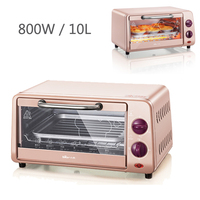 X01,10L Multifunctional Microwave Ovens automatic mini oven electric oven for Home baking Free temperature control 800W pink