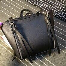 Autumn winter new collection fashion simple women shoulder bag double zipper cross shoulder bag pure color high quality bag