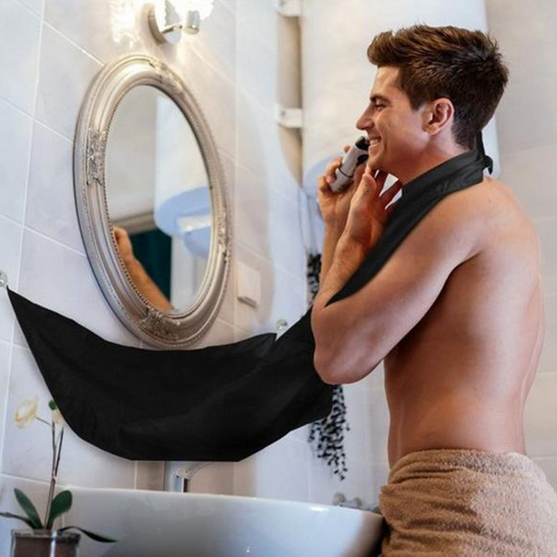 Goedkope Verkoop Mannen Kapsel Schort Waterdichte Baard Trimmen Catcher Mannelijke Baard Schort Huishoudelijke Schoonmaakmiddelen Protecter Badkamer Accessoires