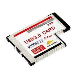 Image 2 - بطاقة Express 54 إلى USB 3.0 بطاقة 54 مللي متر اكسبرس USB PCMCIA 2 منافذ بطاقة محول معدل نقل تصل إلى 5Gbps ل ويندوز XP/Vista/7