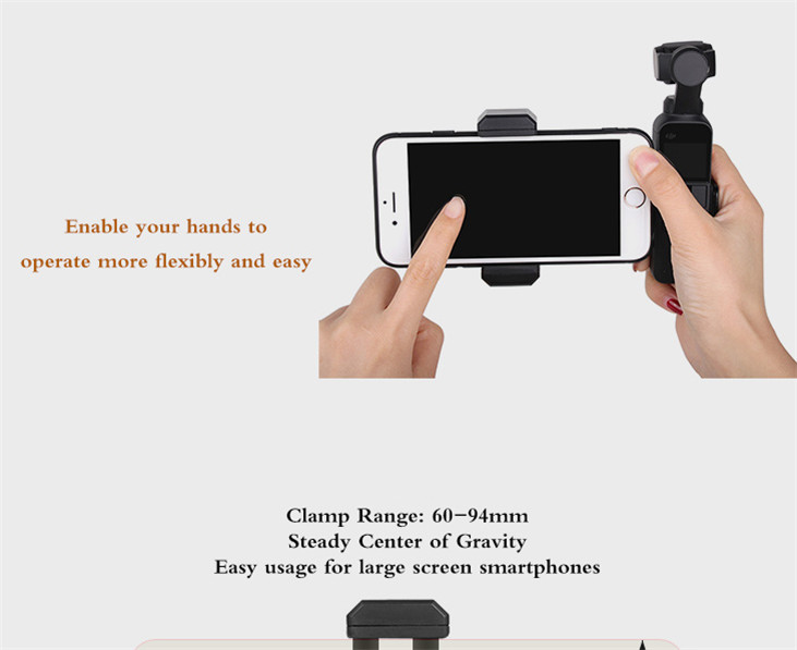 OSMO Pocket Smartphone Fixing Bracket Stand Clamp Extending Rod Tripod for DJI OSMO POCKET Gimbal Accessories 3