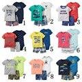 2017 verão 3 peças de roupas de bebê menino Tuta e Animal Print pant set. neonata vestiti di imobiliário insieme vestiti del bambino