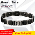 P098 free shipping Noproblem fashion far infrared charm magnetic negative ion infinity metal choker anime beads bracelet for man