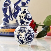 Jingdezhen Ceramic Blue and White Porcelain Desktop Vase Foreign Trade Flower Arrangement Home Jewelry
