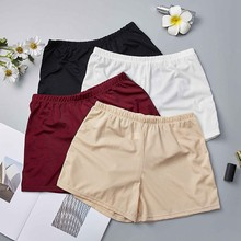 Women Seamless Under Safety Shorts Solid Color Elastic Comfy Soft Female Hot Pants Short Tights New Underwear Femme Plus Size