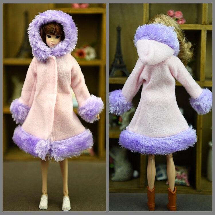 Dockningsartiklar Vinterdräkt Varmt pälsrockklädsel för Barbie - Dockor och tillbehör - Foto 4